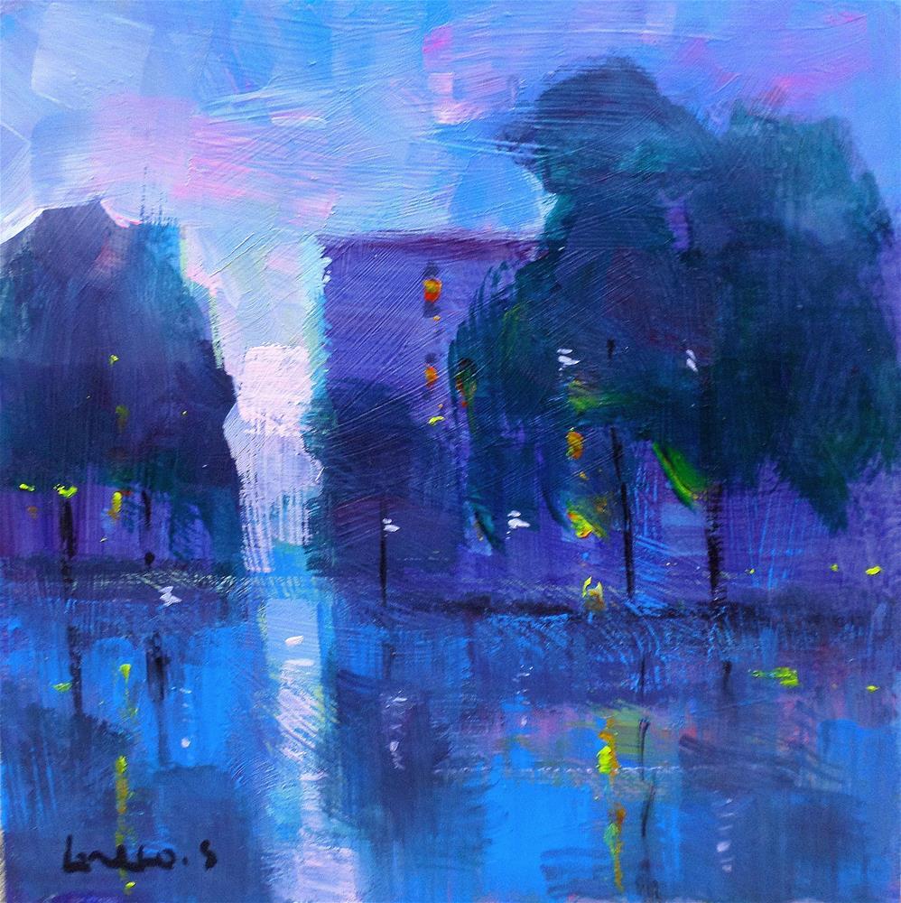 """My neighborhood"" original fine art by salvatore greco"