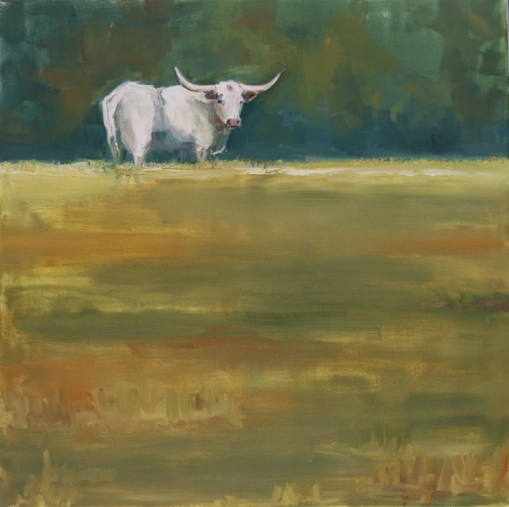 """home on the green"" original fine art by Carol Carmichael"