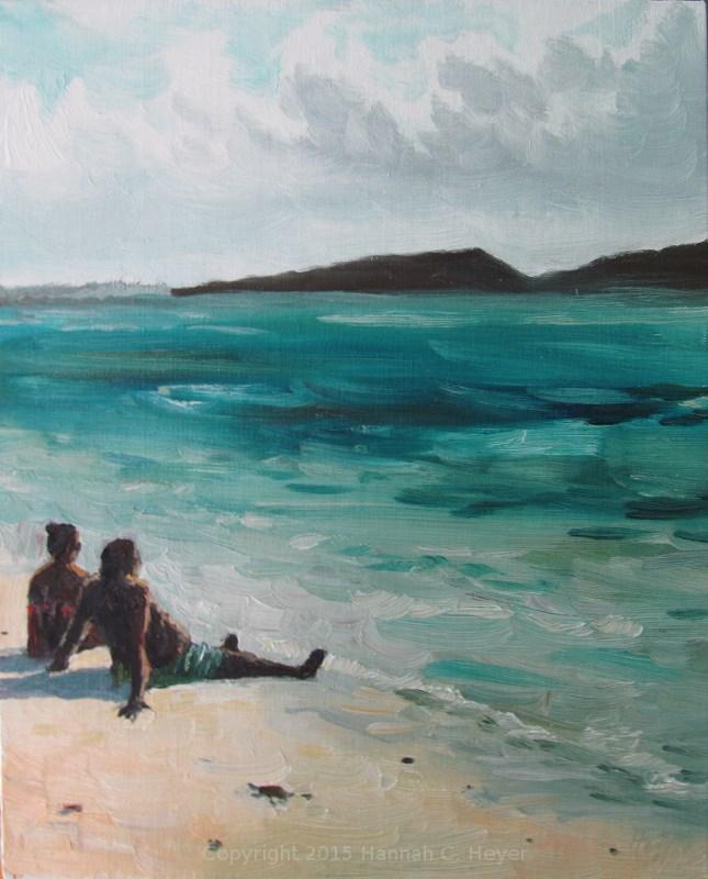 """""""En Isla de Culebra"""" original fine art by Hannah C. Heyer"""