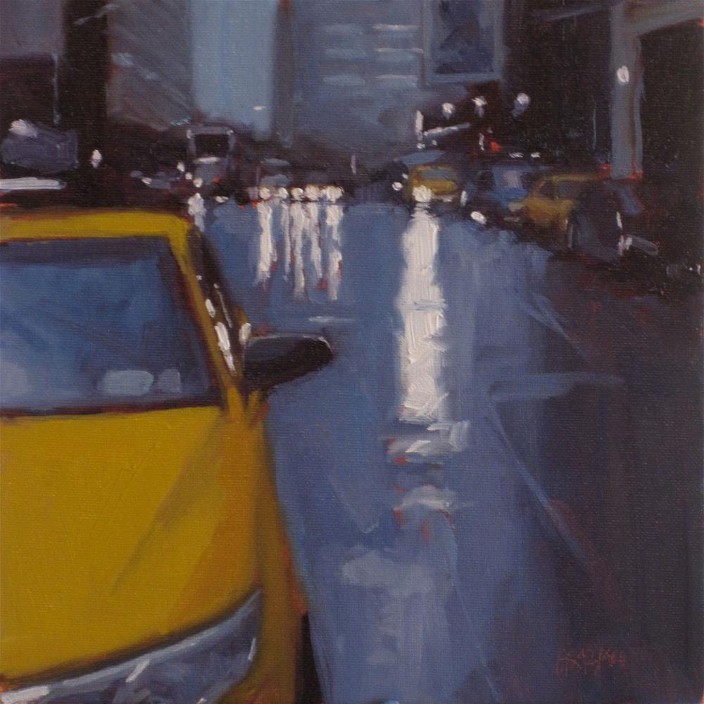 """""""city rain"""" original fine art by Dan Graziano"""