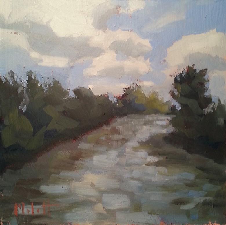 """St. Mary's River Original Oil Landscape"" original fine art by Heidi Malott"