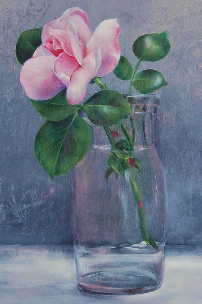"""""""Pink Rose"""" original fine art by Maureen Baker"""