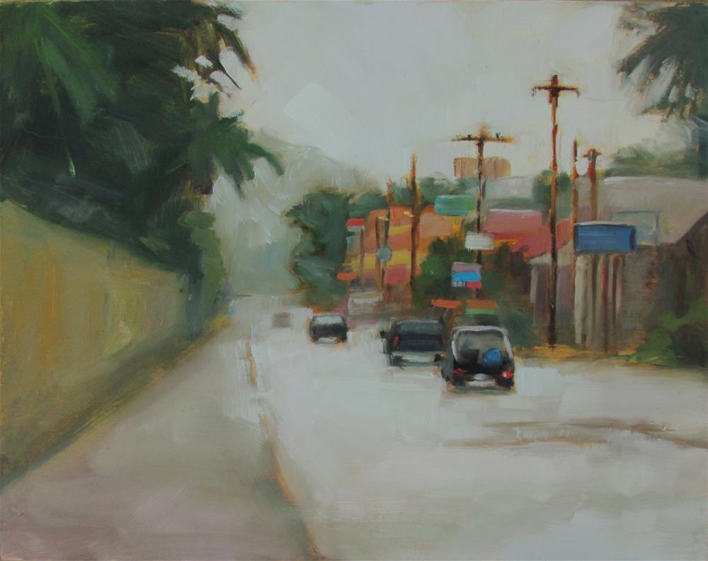 """Rainy Day Drive"" original fine art by Dana Cooper"