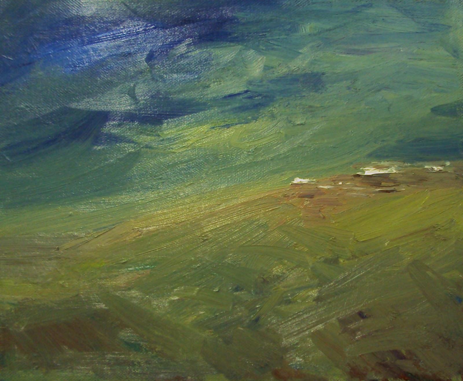"""hill top"" original fine art by Parastoo Ganjei"