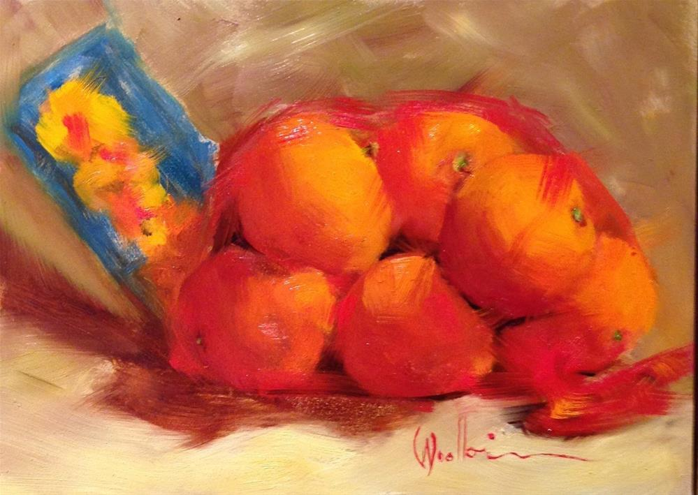 """Bag o' Cuties"" original fine art by Dorothy Woolbright"