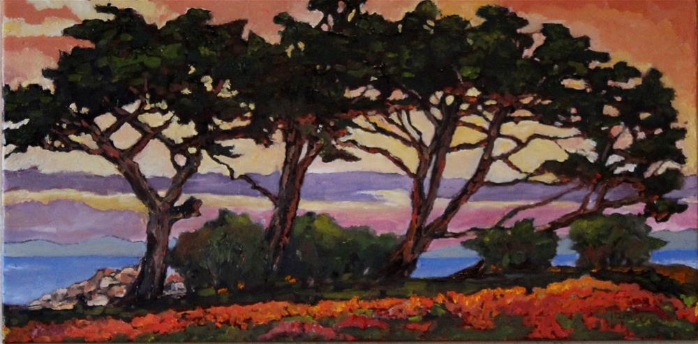 """""""Sunset at Lover's Point """" original fine art by Tamsen Armstrong"""