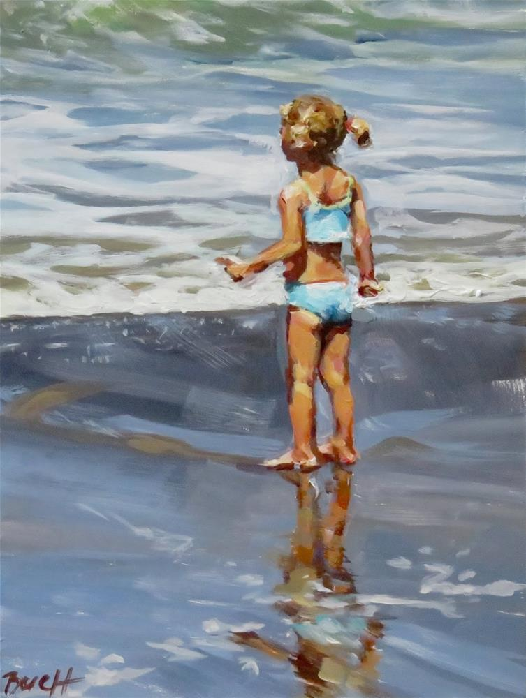"""Girl vs Ocean"" original fine art by Shari Buelt"