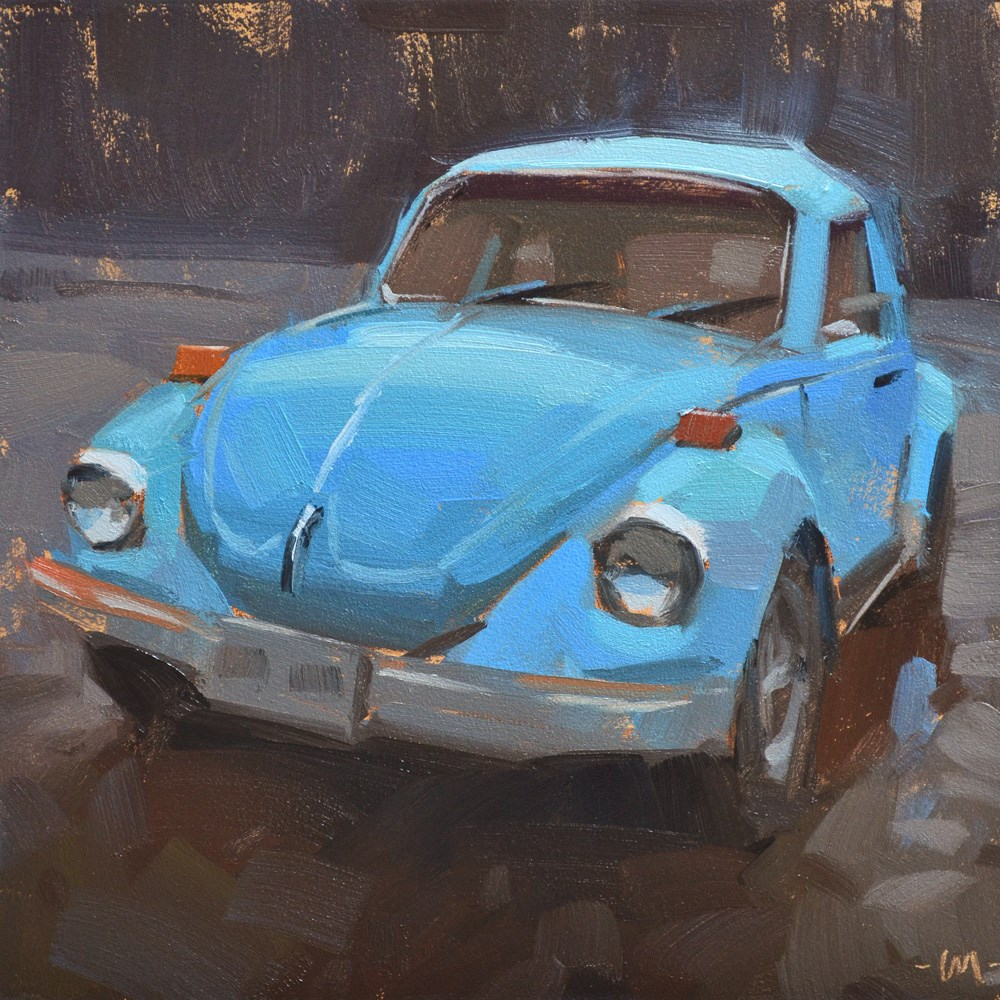 """""""Blue Bug"""" original fine art by Carol Marine"""