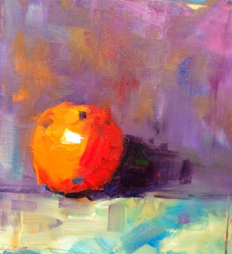 """Orange Surprise"" original fine art by Peggy Schumm"