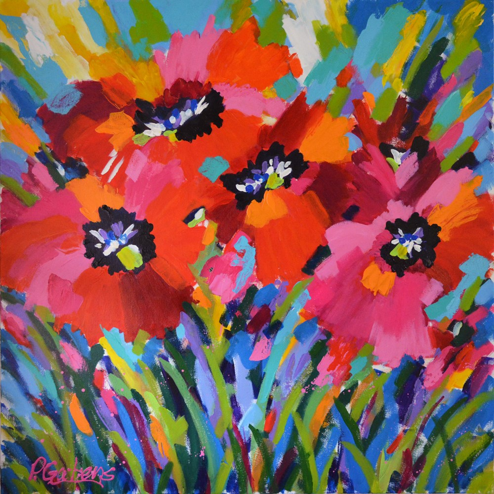 """Poppy Sunrise"" original fine art by Pamela Gatens"