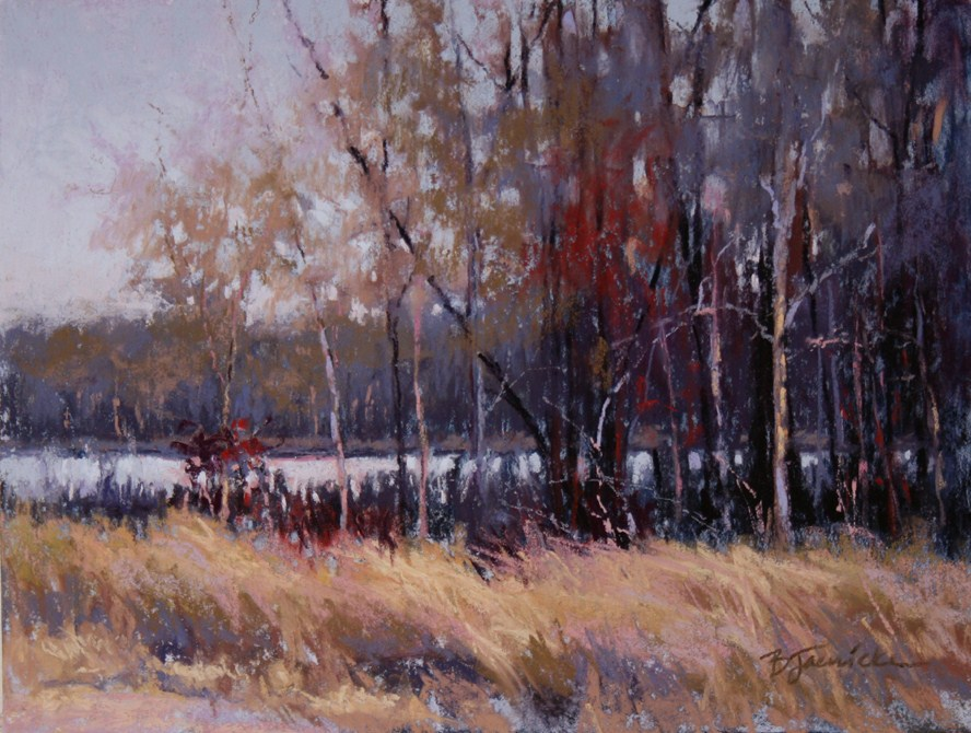 """Peeking Through the Trees"" original fine art by Barbara Jaenicke"