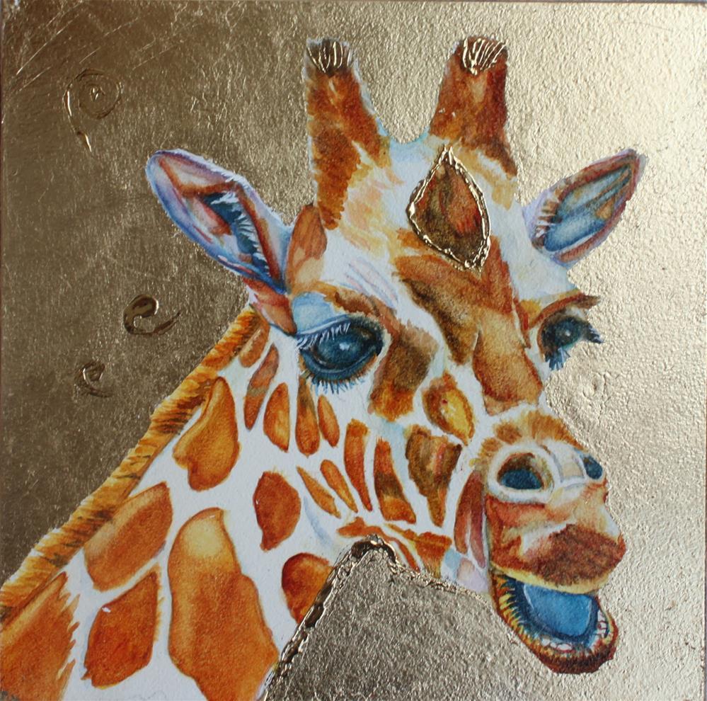 """The Happy Giraffe"" original fine art by Christiane Kingsley"