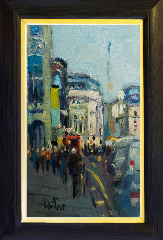 """""""Piccadilly with Traffic"""" original fine art by Andre Pallat"""