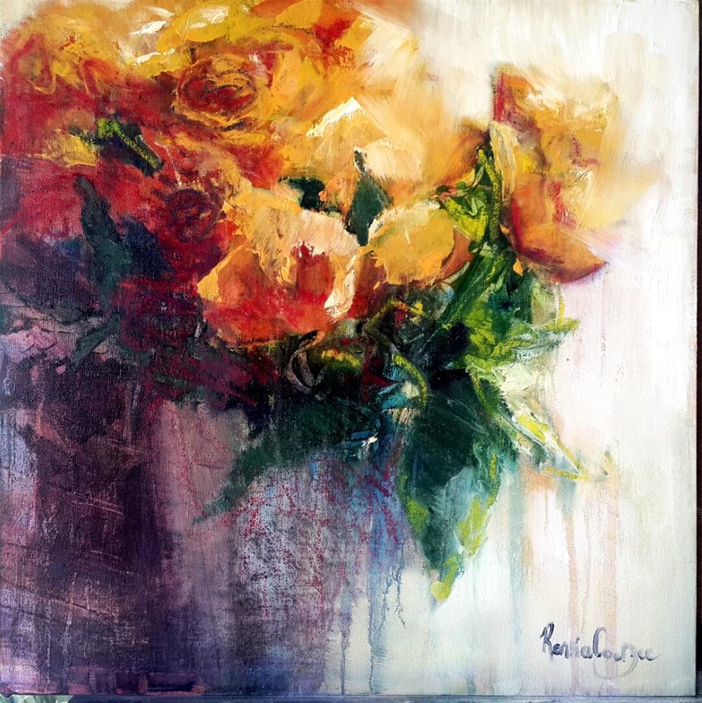 """""""Bloomin roses"""" original fine art by Rentia Coetzee"""