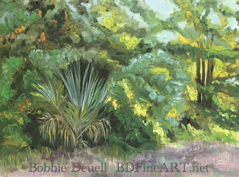 """#29 A Walk in the Woods"" original fine art by Bobbie Deuell"