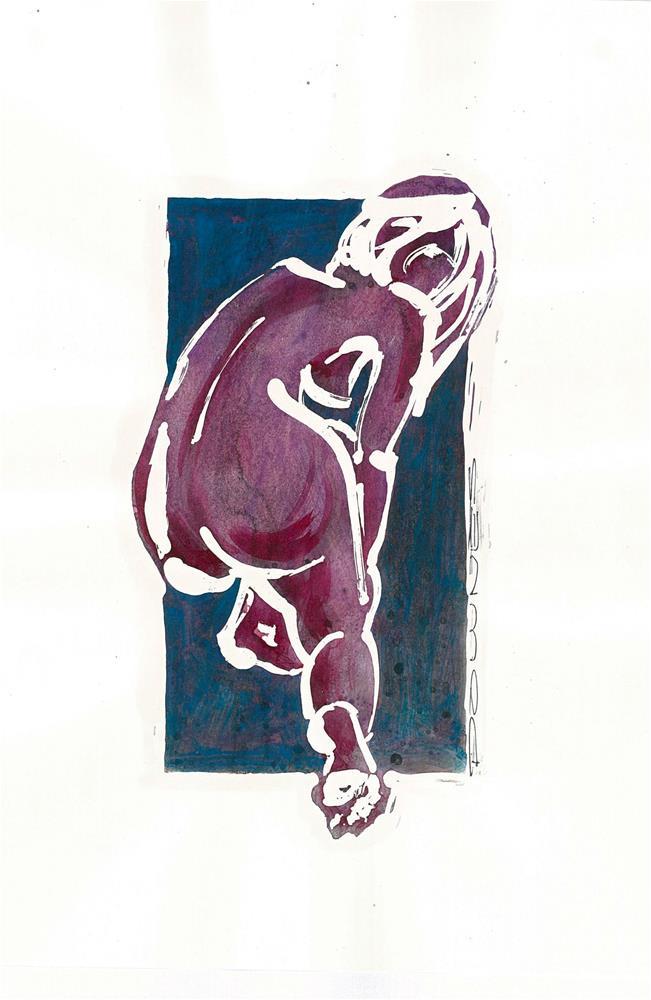 """297 STYLISED LIFE SKETCH 13"" original fine art by Trevor Downes"
