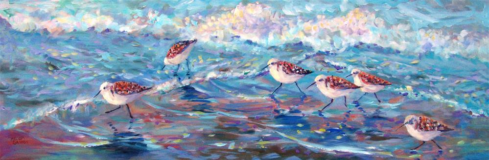 """Beach Tango in Blue Green"" original fine art by Melissa Gannon"
