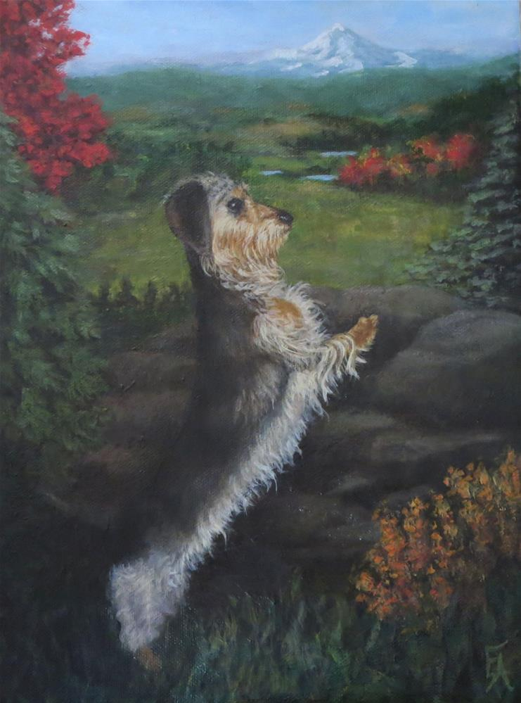 """Ruefus Dreaming of Oregon"" original fine art by Elizabeth Elgin"