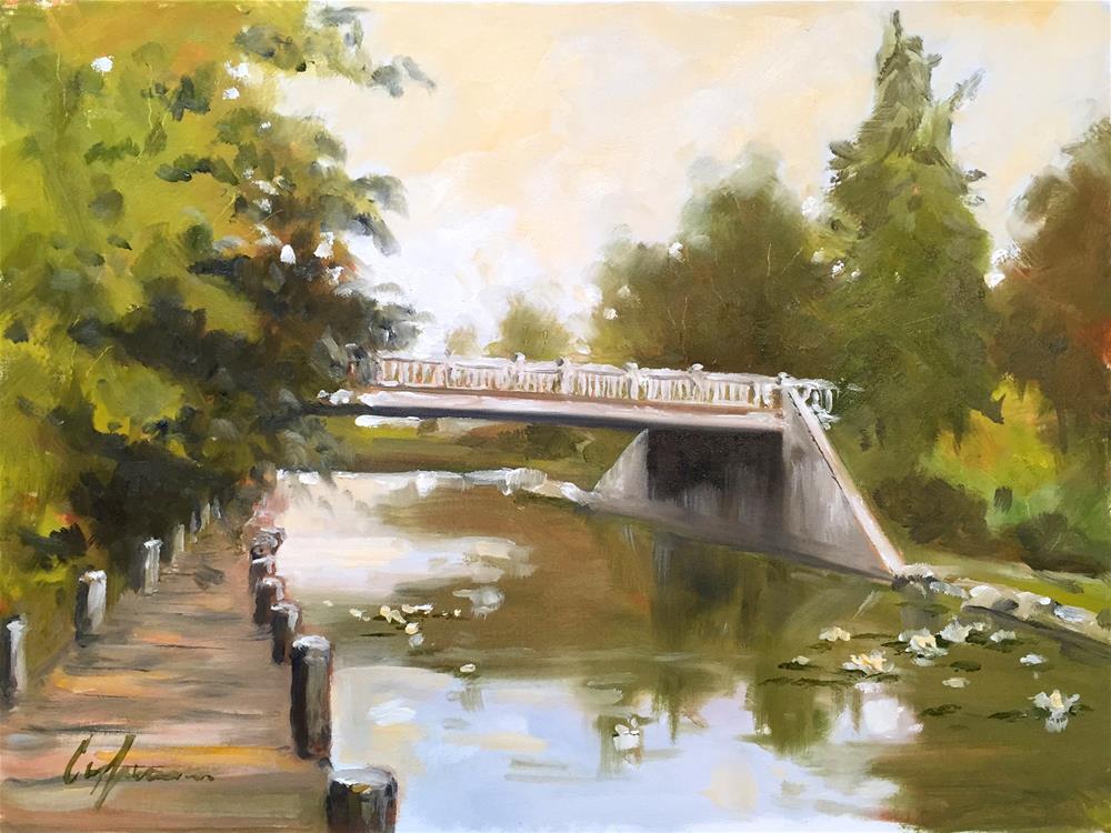 """Traverse City River Walk"" original fine art by Cornelis vanSpronsen"