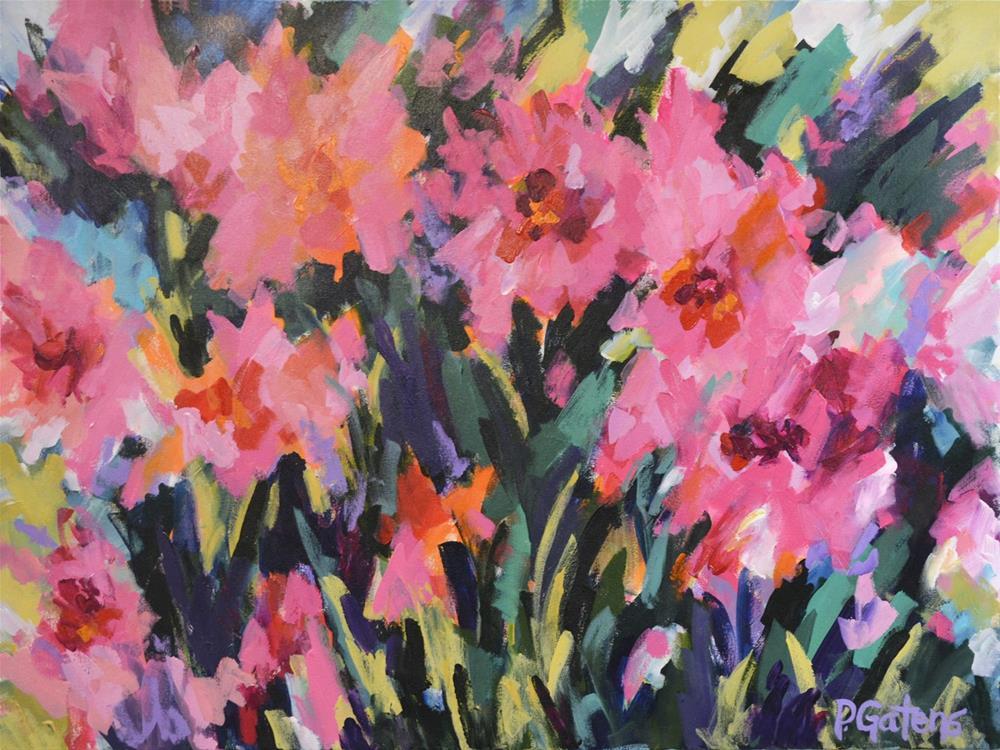 """Pink Poppy Surprise"" original fine art by Pamela Gatens"