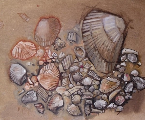 """Shell Collection"" original fine art by Mary Hubley"