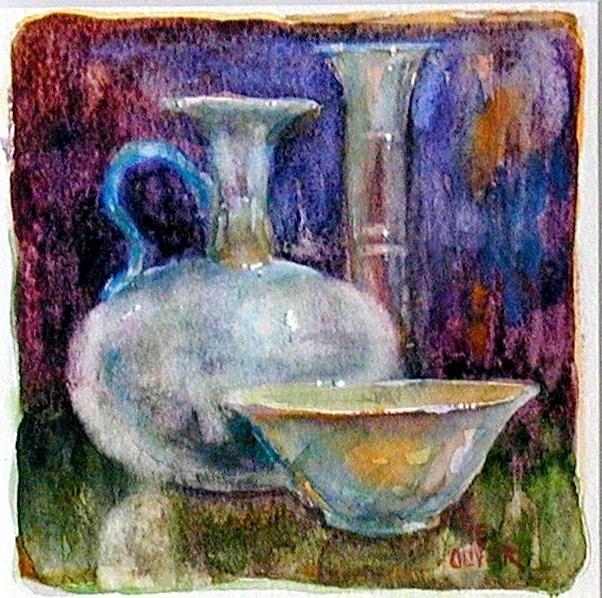 """A Little Watercolor"" original fine art by Julie Ford Oliver"