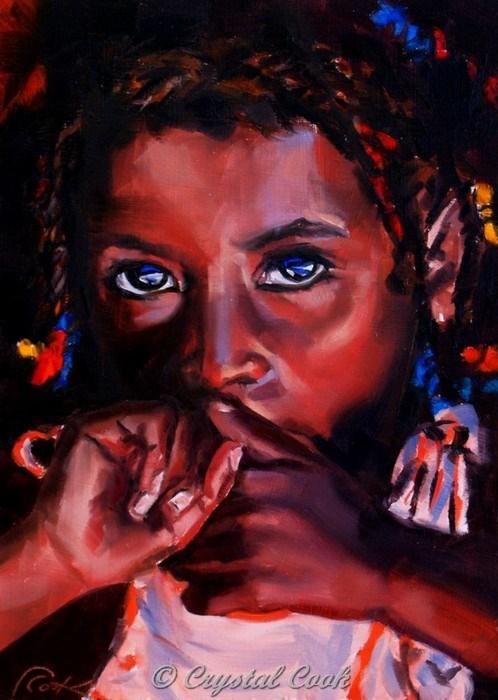 """Flicker in the Dark"" original fine art by Crystal Cook"