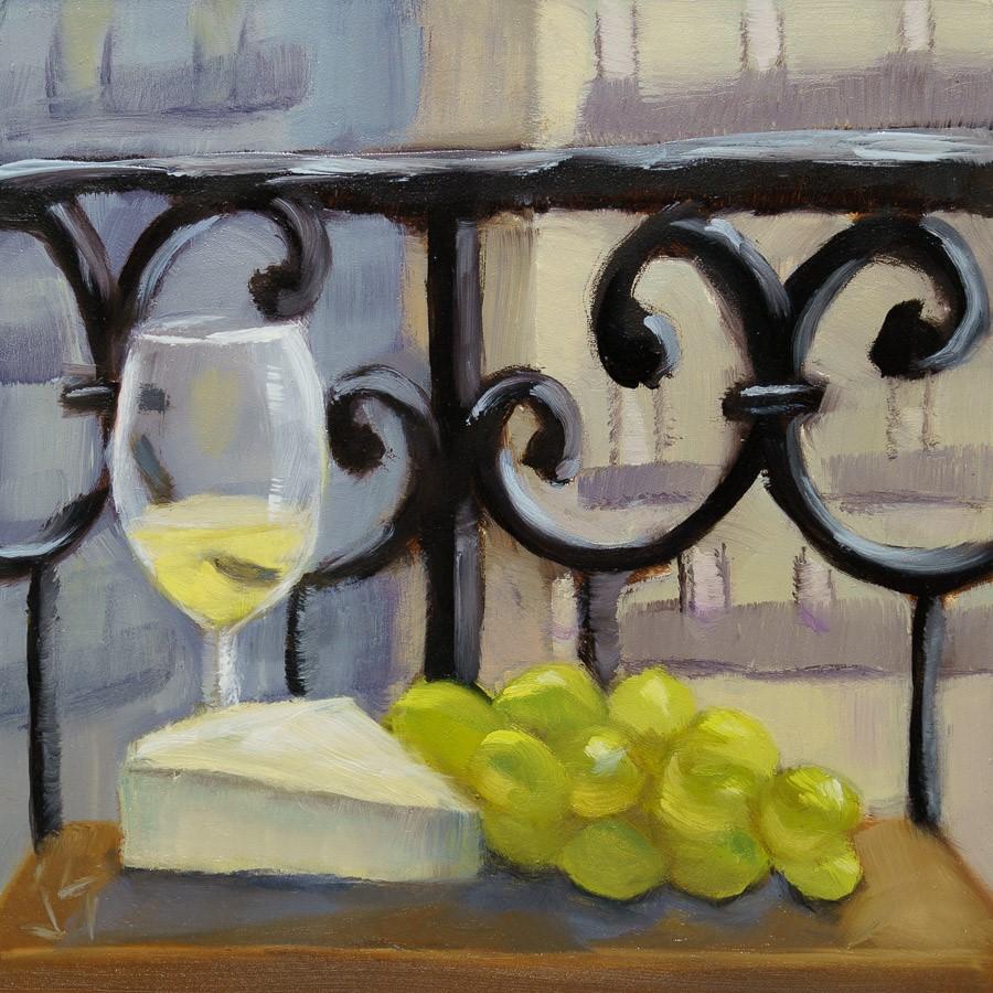 """Inside-Out Happy Hour"" original fine art by Johnna Schelling"
