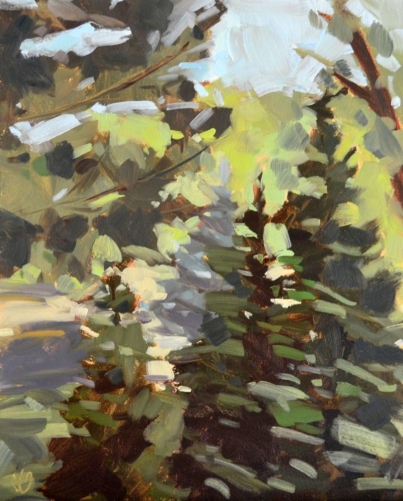 """""""Evergreen Lineup"""" original fine art by Jessica Green"""