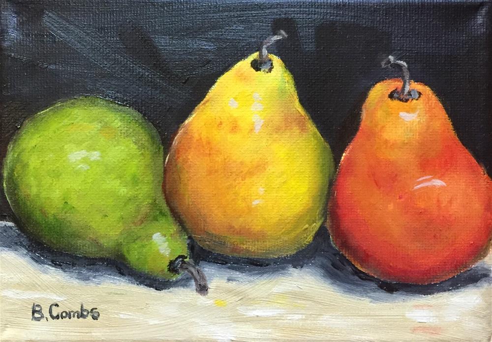 """Happy Pears"" original fine art by Bebe Combs"