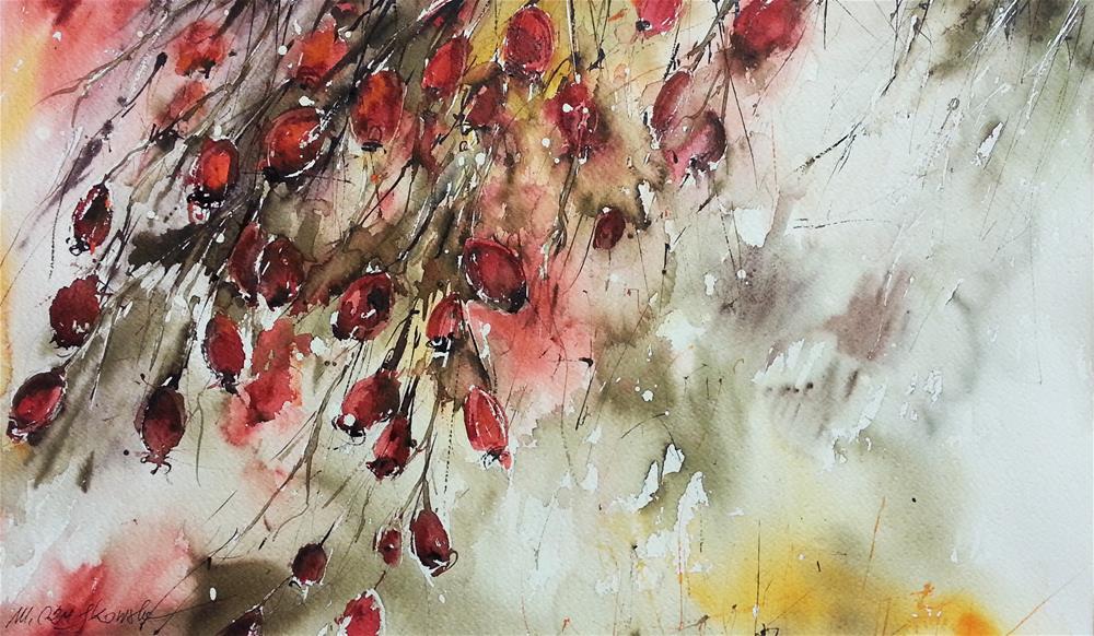 """Hawthorn"" original fine art by Marlena Czajkowska"