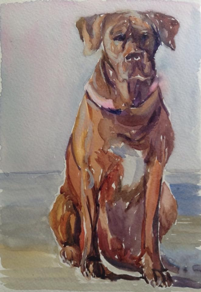 """""""Impatient Mable"""" original fine art by Lyn Gill"""