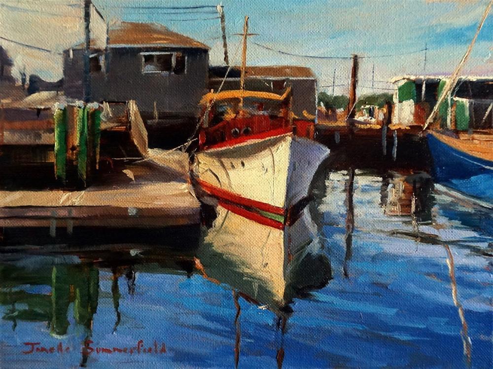 """""""Docked in Newport"""" original fine art by Jonelle Summerfield"""