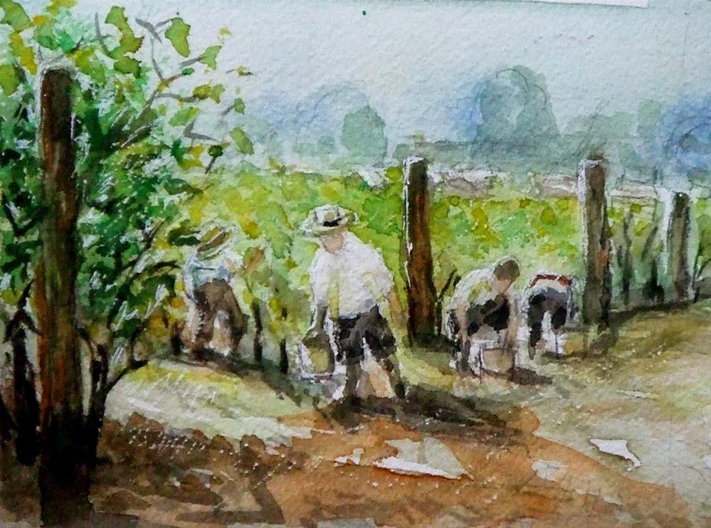 """Study of J.Zubkvic's watercolour"" original fine art by Mitsuru Cope"