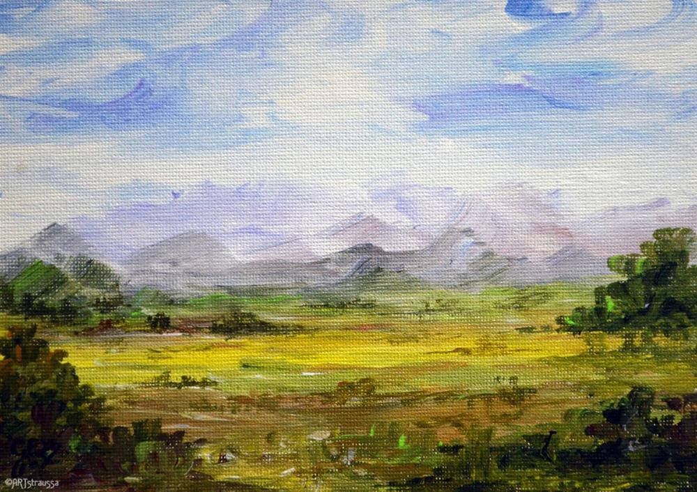 """Aussie Country"" original fine art by Gloria Ester"