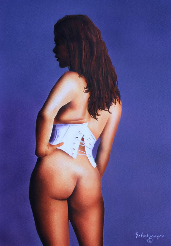 """Nude Model with Auburn Hair"" original fine art by Fred Schollmeyer"