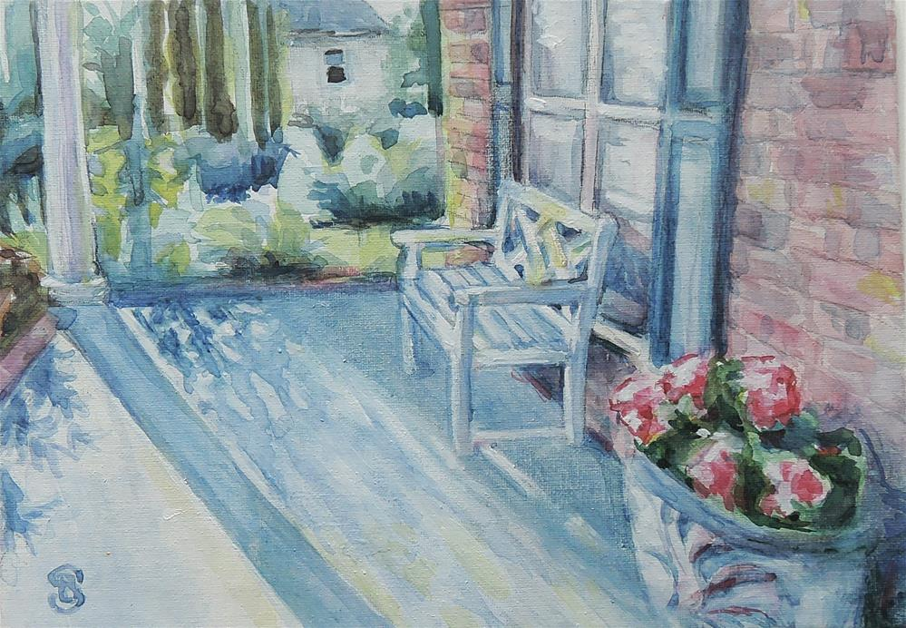 """Afternoon Sun and Shadows"" original fine art by Belinda Scheber"