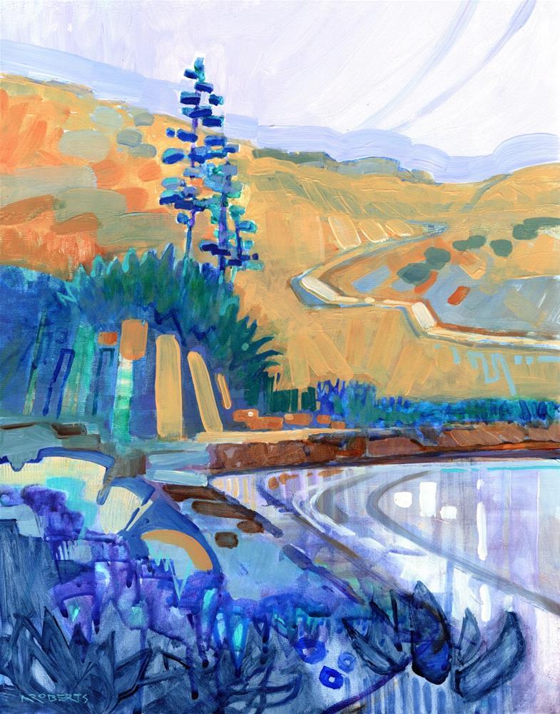 """Glen Cove Agaves"" original fine art by Nancy Roberts"