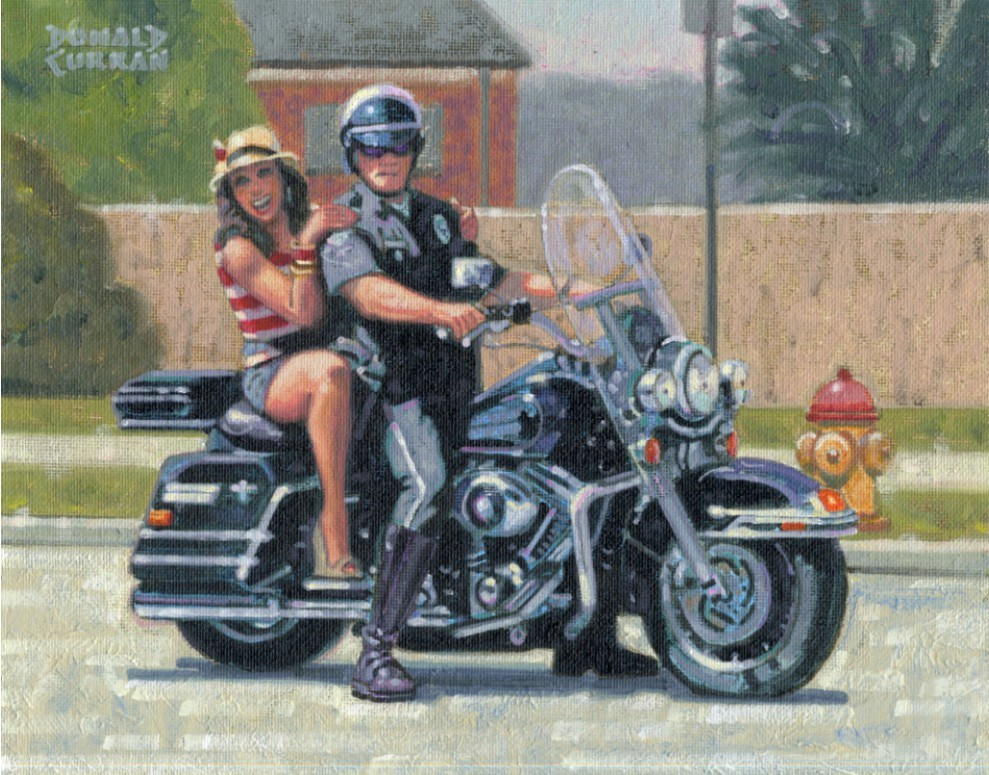 """Serve and Protect"" original fine art by Donald Curran"