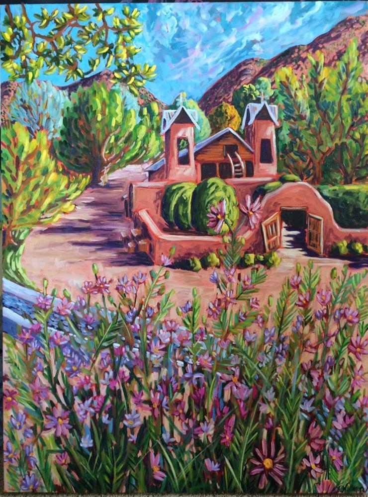 """Santuario through the Cosmos"" original fine art by Robyn Suzanne"