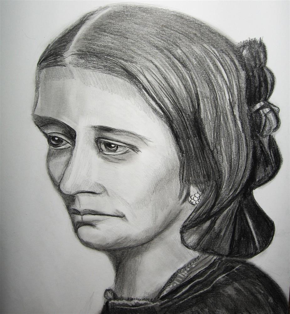 """""""Portrait of Clara Schumann"""" original fine art by Terri Brown-Davidson"""