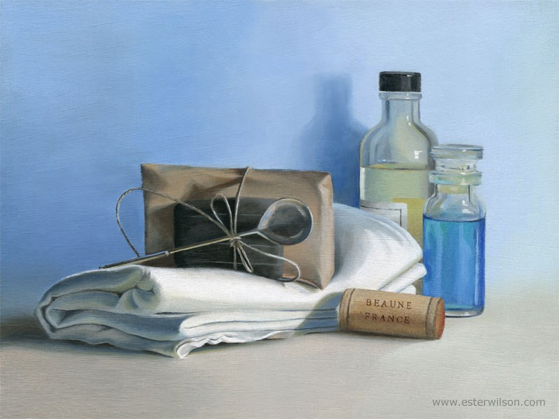 """French Bath"" original fine art by Ester Wilson"