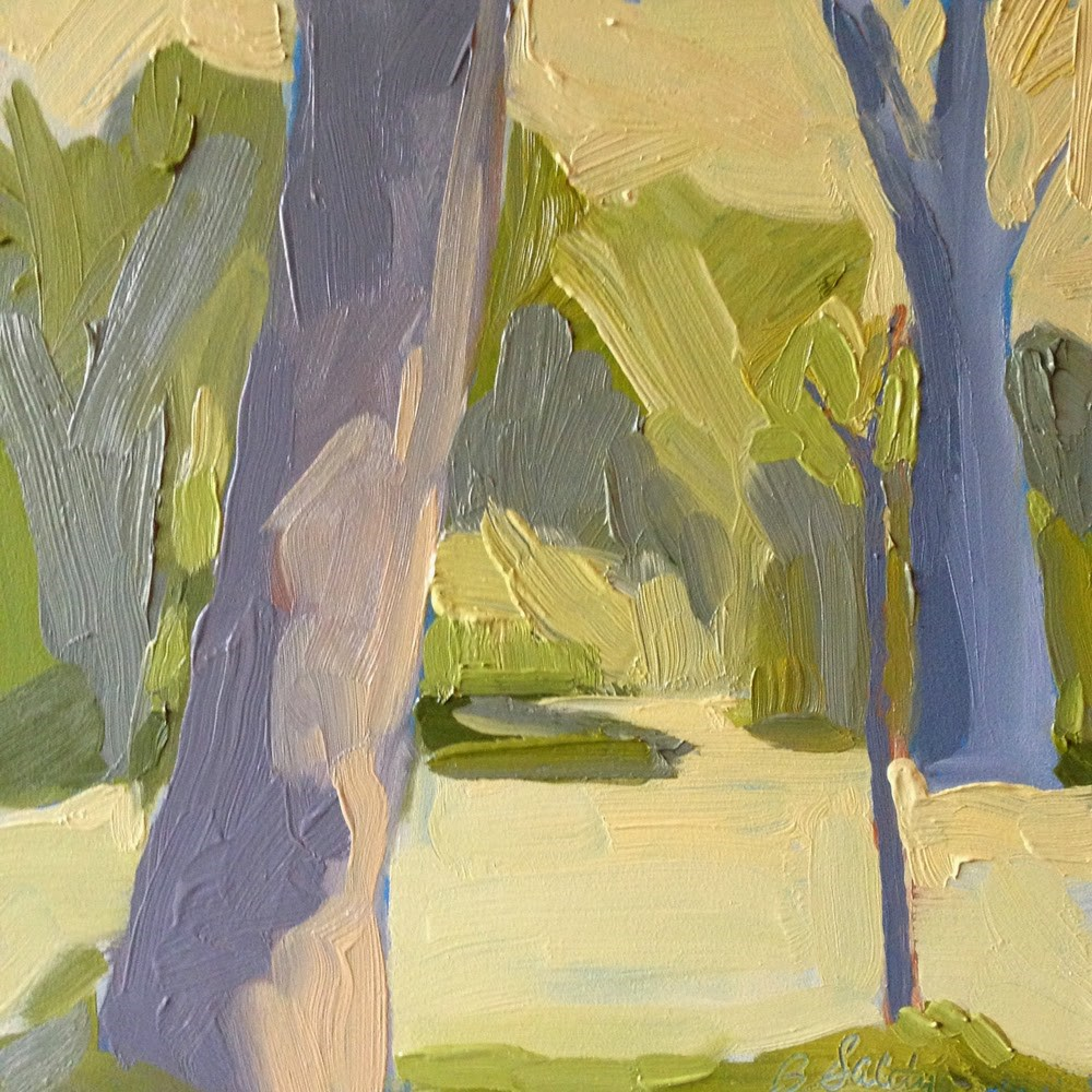 """3 Bare Trees"" original fine art by Barb Saletri"