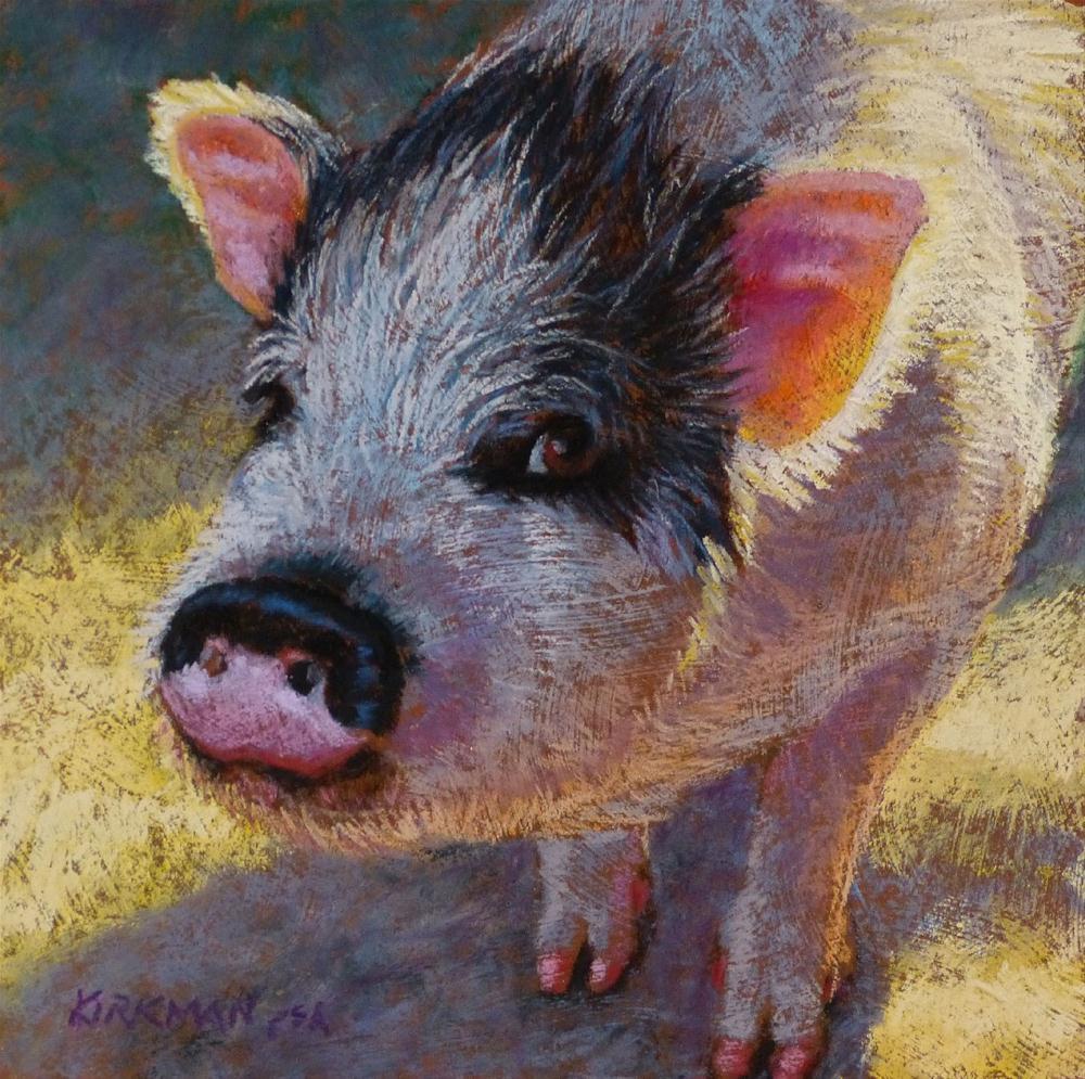 """""""Pinky - original pastel painting by Rita Kirkman"""" original fine art by Rita Kirkman"""