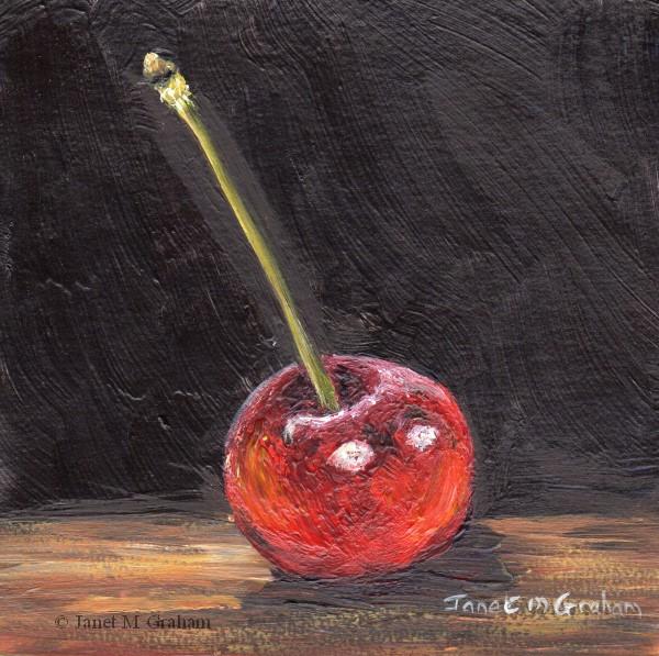 """Cherry No 2"" original fine art by Janet Graham"