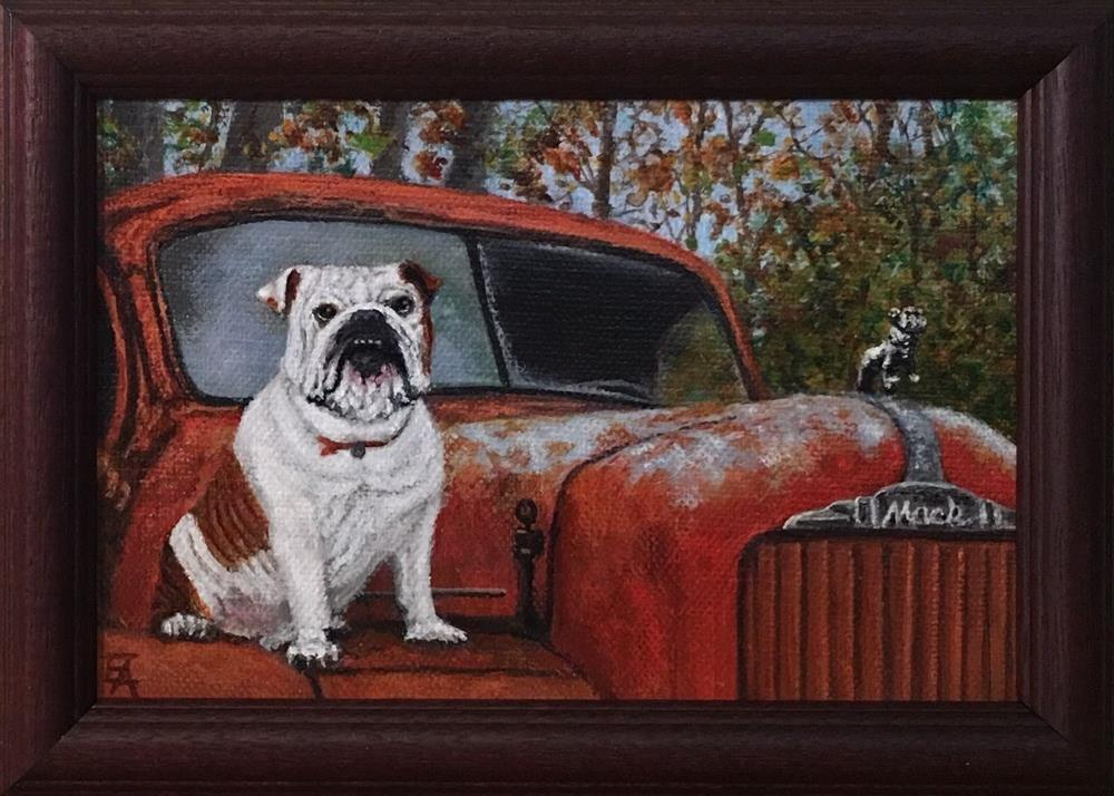 """""""Mack, Framed"""" original fine art by Elizabeth Elgin"""