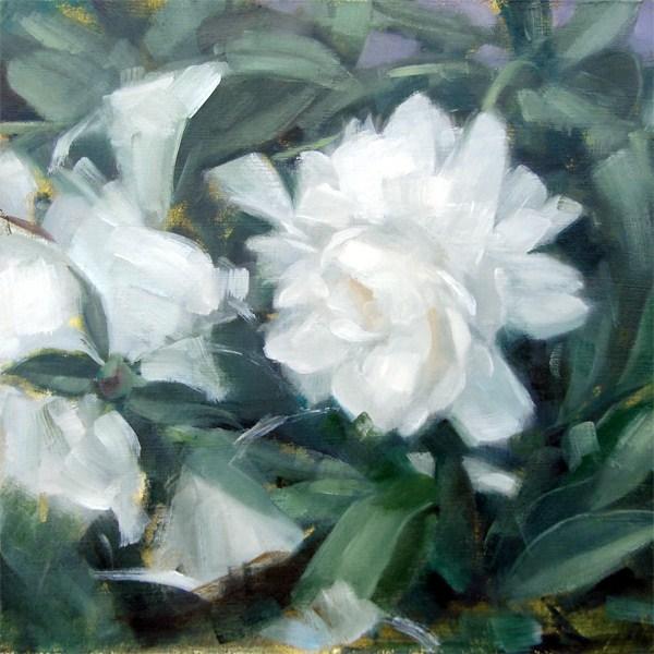 """""""White Flower (no.67)"""" original fine art by Michael William"""