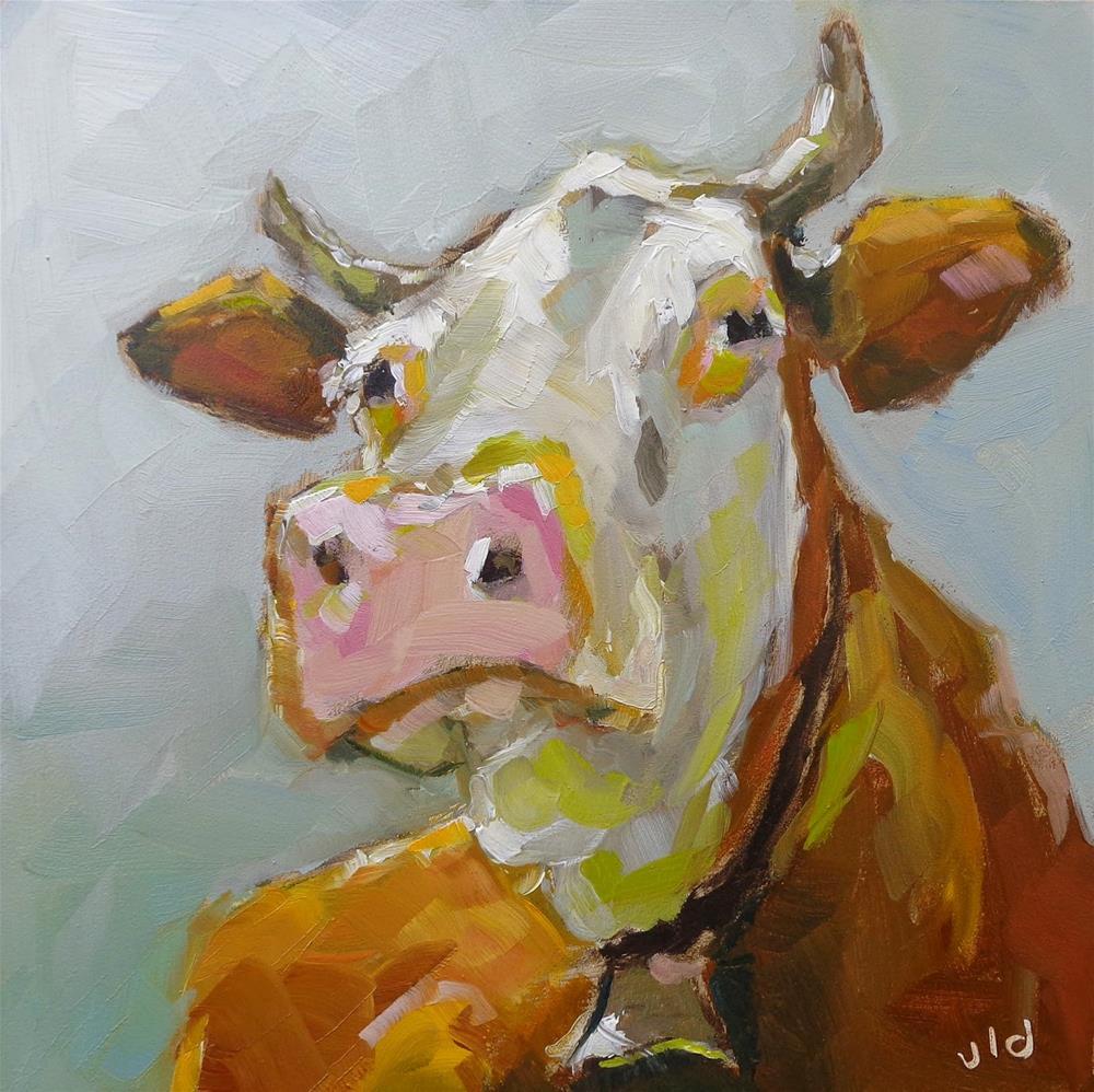 """Cow 38 Really"" original fine art by Jean Delaney"