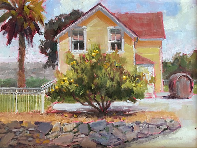 """Lemon Yellow"" original fine art by Deborah Newman"