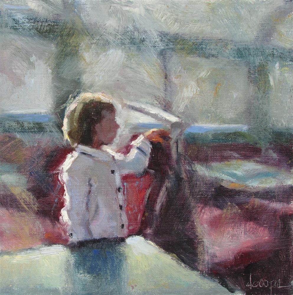 """Ferry Rider"" original fine art by Dana Cooper"